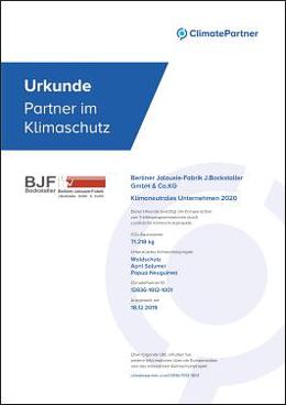 Climate Partner Urkunde